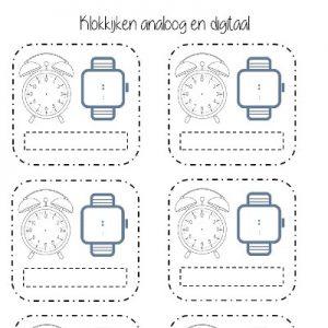 Klokkijken analoog en digitaal leeg (1)