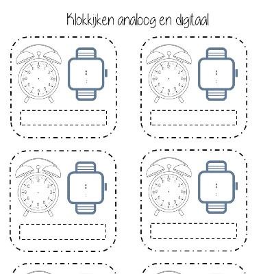Ongebruikt Oefenen met klokkijken - Onderwijswereld-PO PH-49