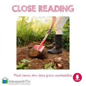 voorbeeldles close reading