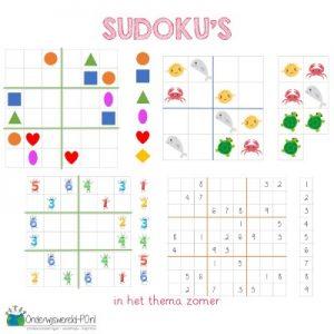 sudoku thema zomer