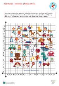 Oefenen met coördinaten: thema Sinterklaas