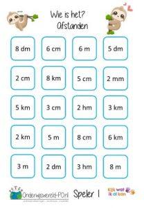 spellenpakket metriek stelsel