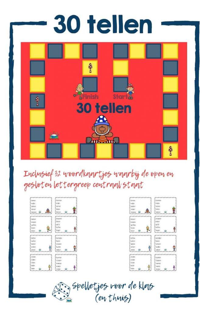 30 tellen open en gesloten lettergreep
