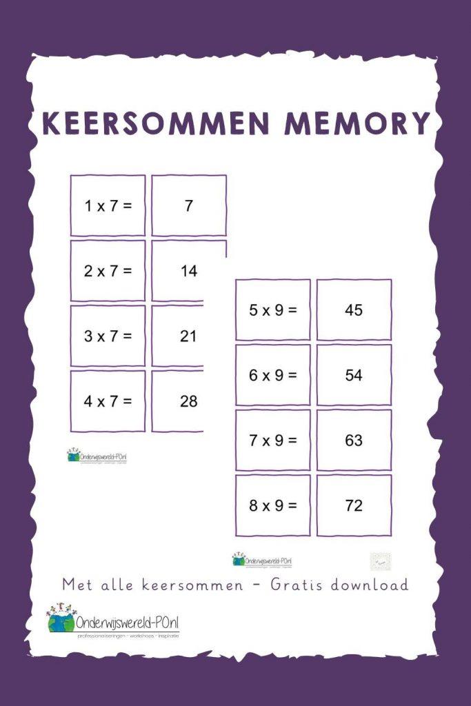 Keersommen memory