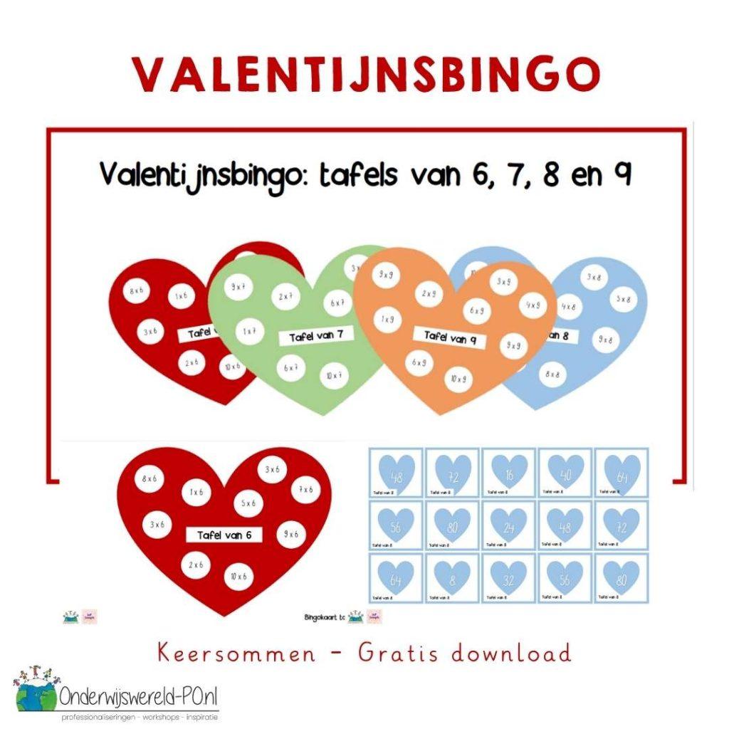 Valentijnsbingo keersommen