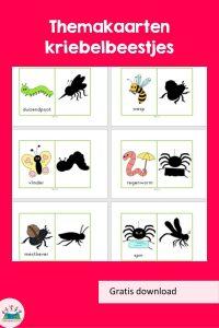 Themakaarten kriebelbeestjes