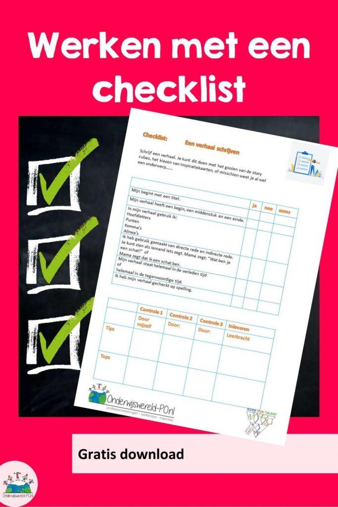 werken met een checklist