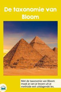 De taxonomie van Bloom